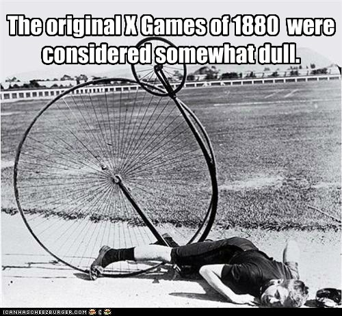X Games,bicycles,old timey