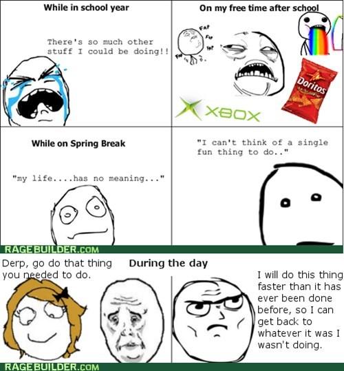 sweet jesus,doritos,chores,xbox,rainbow guy,spring break