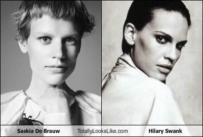 Saskia De Brauw Totally Looks Like Hilary Swank