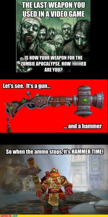 hammertime,puns,Videogames,zombie