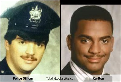 carlton,totally looks like,mustaches,police