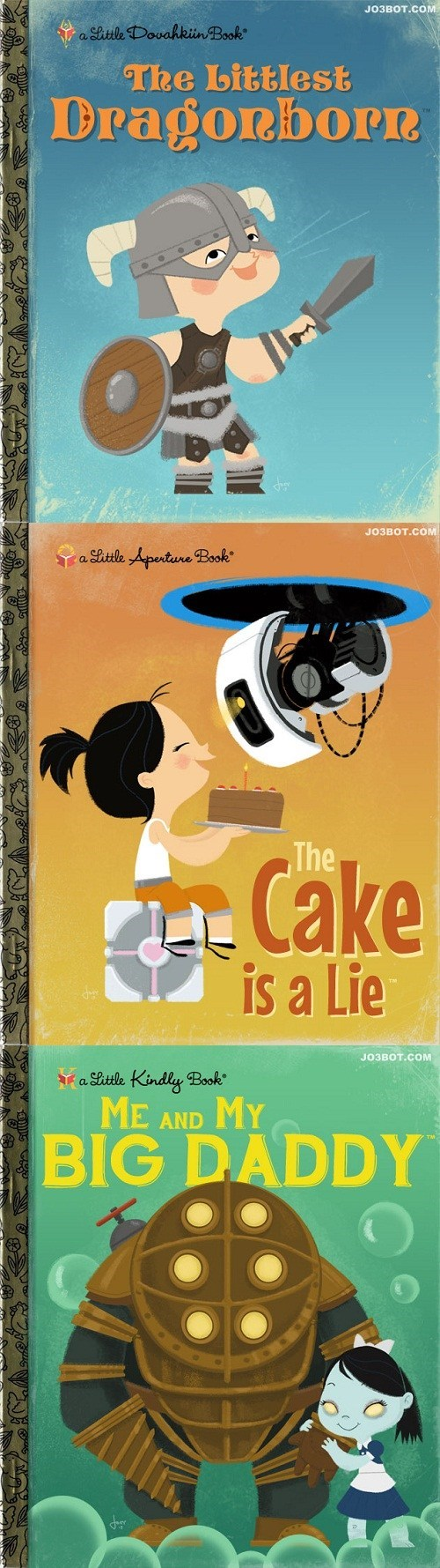 What if Video Games Were Made Into Children's Books?