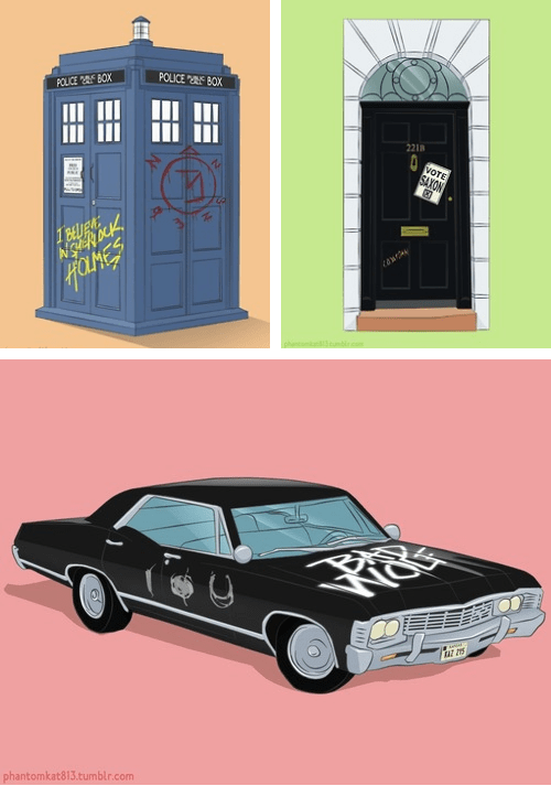 Supernatural,doctor who,Sherlock