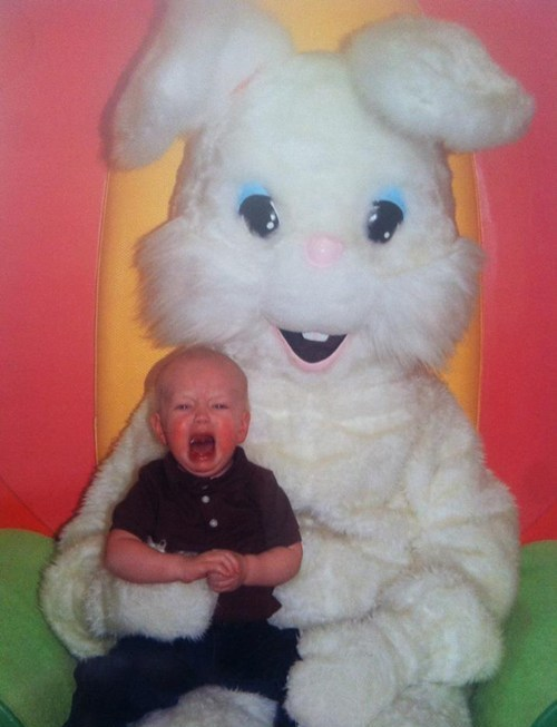 easter,scared kids,Easter Bunny,happy easter,g rated,Parenting FAILS