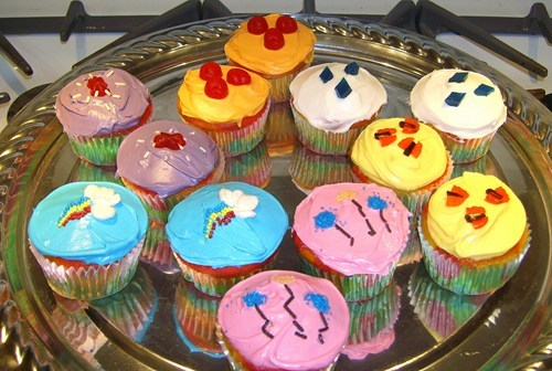 Mane Six Cutie Mark Cupcakes