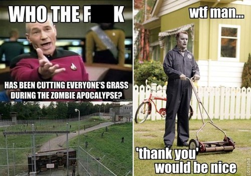 lawn care,zombie,The Walking Dead