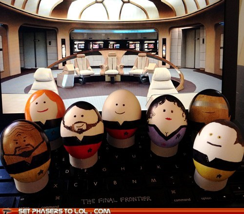 To boldly go where no eggs have gone before!