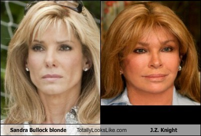 Sandra Bullock as a Blonde Totally Looks Like J.Z. Knight
