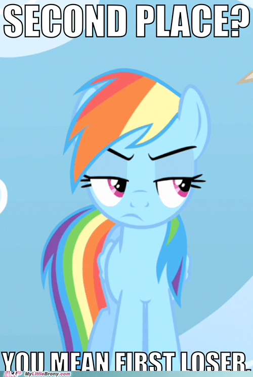 competition,rainbow dash,second place
