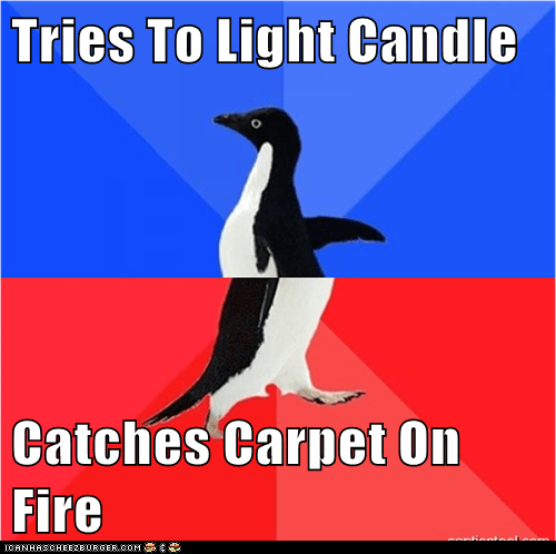 Tries To Light Candle  Catches Carpet On Fire
