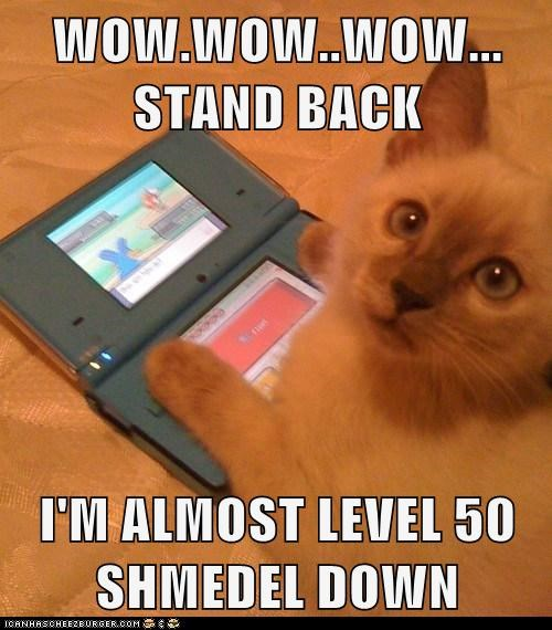 WOW.WOW..WOW... STAND BACK  I'M ALMOST LEVEL 50 SHMEDEL DOWN
