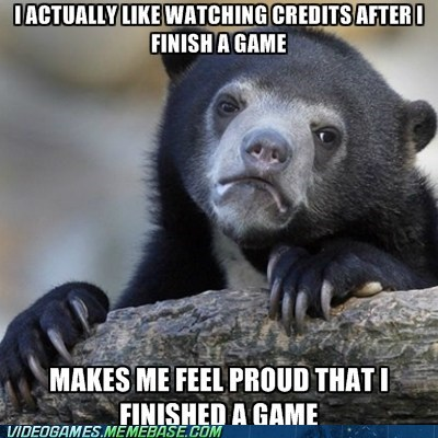 Memes,Confession Bear,video games,credits