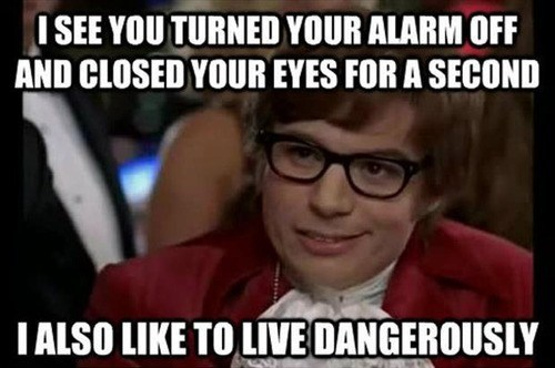live dangerously,alarms