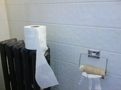 radiator,toilet paper,there I fixed it