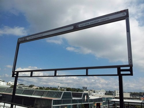 This Billboard Gives Real-Time Weather Updates!