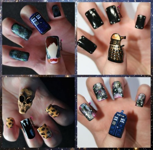 nerdgasm,doctor who,nail art