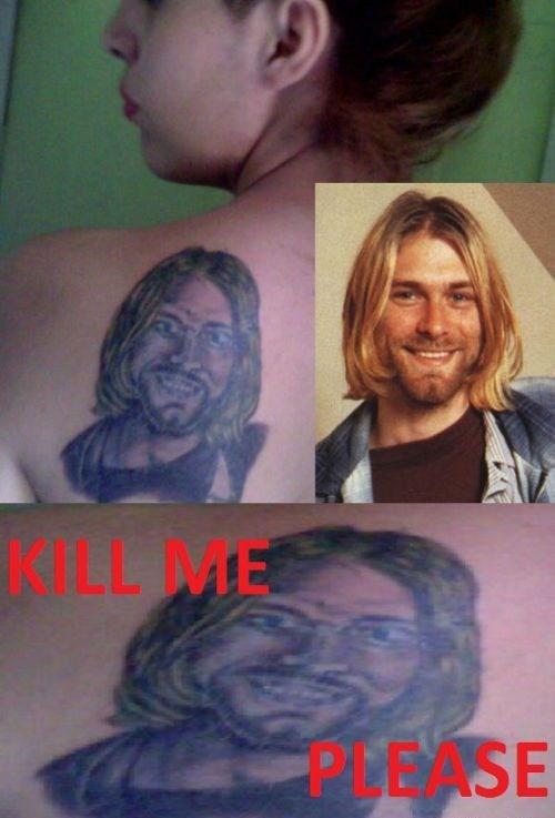 back tattoos,kurt cobain,nirvana