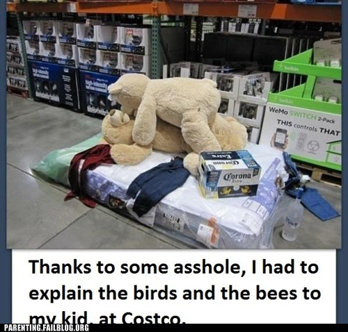beer,costco,birds and the bees,Parenting FAILS