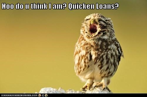 Hoo do u think I am? Quicken Loans?