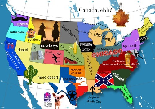 america,stereotypes,states