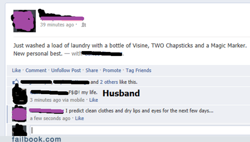 chapstick,husband,laundry,visine