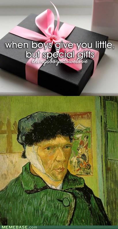 Van Gogh,ears,things boys do