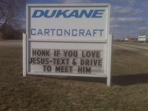 the J-man,signs,marquee,honk crash die