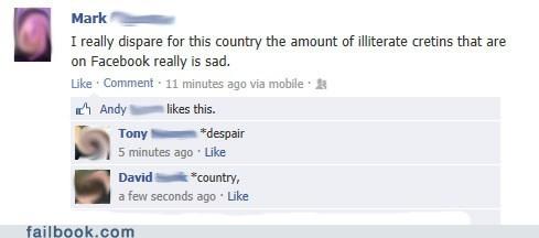 cretins,despair,spelling