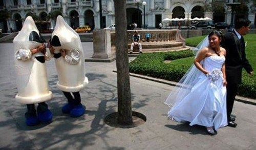 costume,condoms,wedding photos