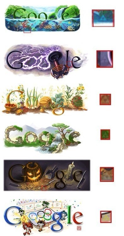 Hidden Triforces in Google Doodles