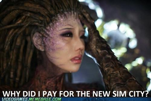 Sad,SimCity,EA,video games,kerrigan
