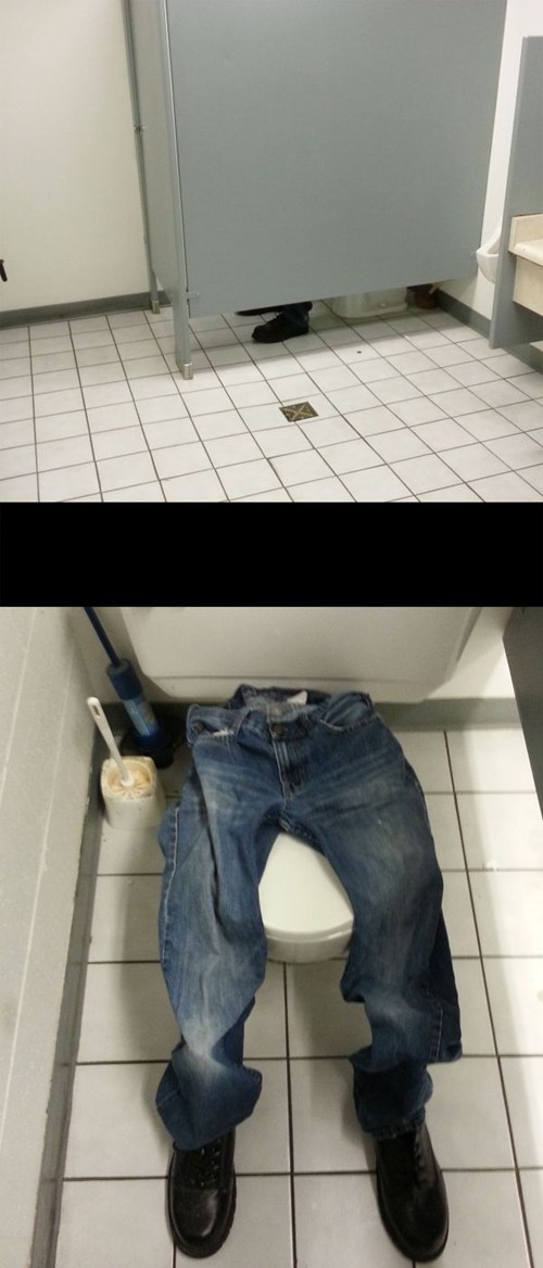 You Evil Bathroom-Hogging Genius!