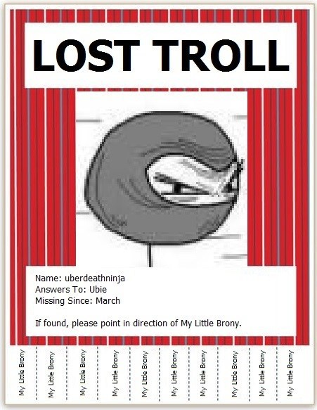 We Are Looking for a Lost Troll