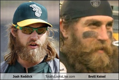 Josh Reddick Totally Looks Like Brett Keisel