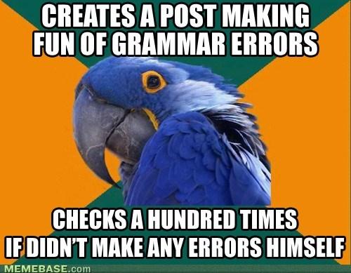 Paranoid Grammar Parrot
