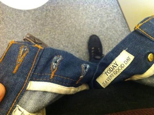 jeans,tags,positivity