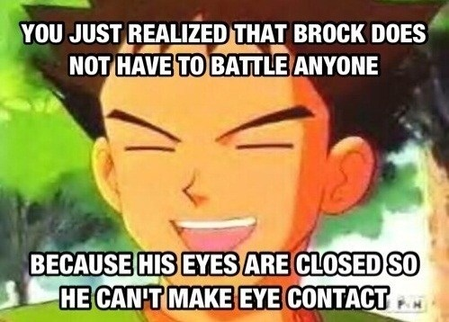 Why Brock Keeps His Eyes Closed