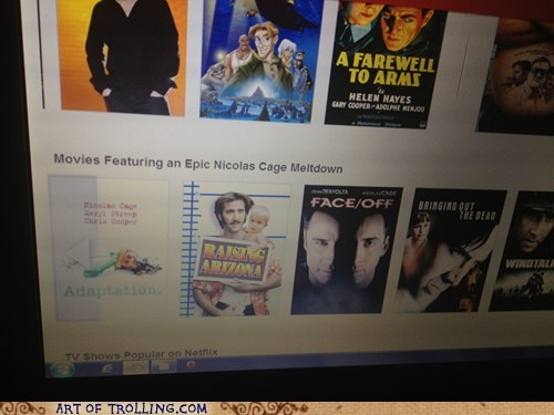 A.K.A. Every Nicolas Cage Movie Ever