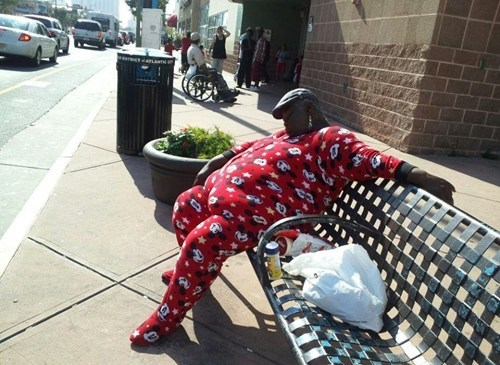 When You're Wearing PJs, You Can Sleep Anywhere You Want To!