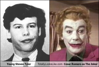 Young Steven Tyler Totally Looks Like Cesar Romero as The Joker