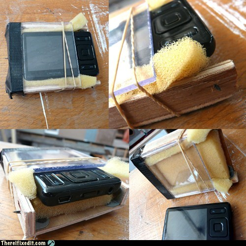 Homemade Camera, Phone, or MP3 Player Protective Case