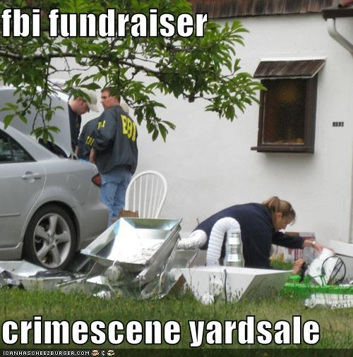 fbi fundraiser  crimescene yardsale