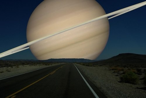 If Saturn Was as Close as the Moon