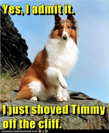 Yes, I admit it.  I just shoved Timmy off the cliff.