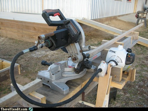 Chop Saw Repair with Weedeater