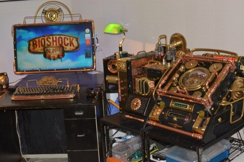 I Wonder if Booker Would Find Food Inside of This Steampunk PC