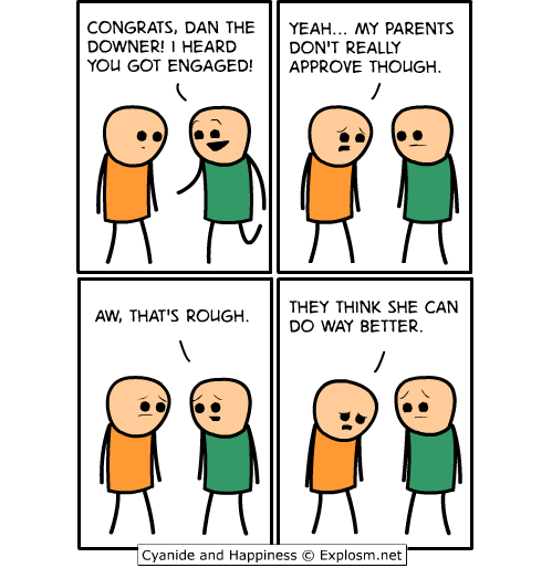 comics,engaged,cyanide and happines