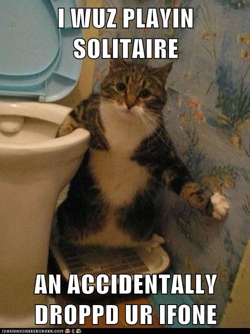 solitaire,toilet,iphone