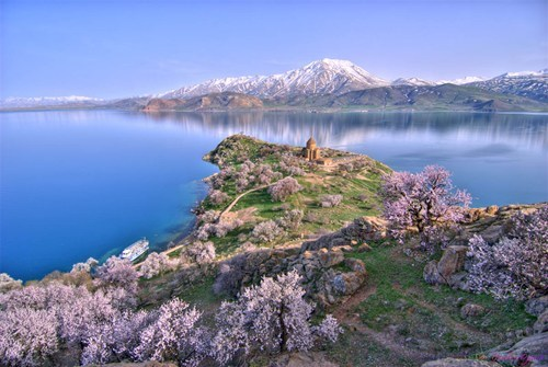 Akhtamar Island on Lake Van