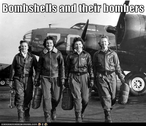 bombers,military,pilots,bombshells